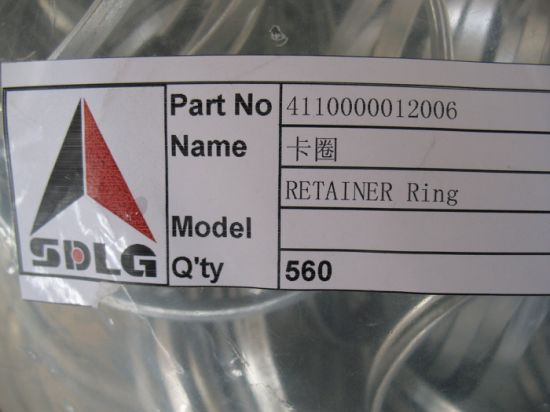 Sdlg LG936L Front End Wheel Loader Parts Clamp/Retainer Ring 4110000012006