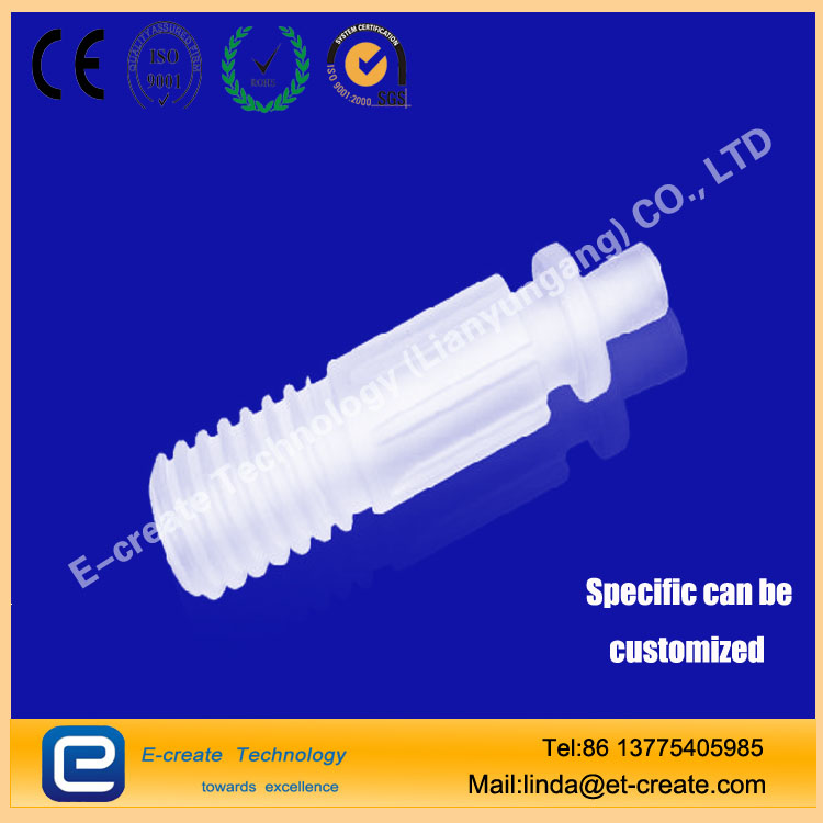 artz thread, threaded mouth quartz tube, external thread quartz tube, quartz screw tied to support custom processing