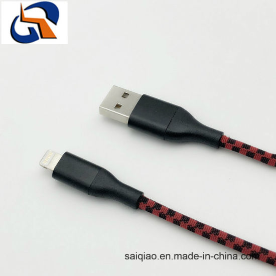 Lightning Double Color Mixing Braided Charging Data Cable