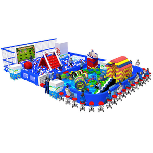 Ocean Theme Park Kids Мягкая игровая площадка Ball Pit and Building Blocks