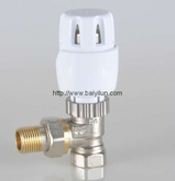 Thermostatic radiator angled valve