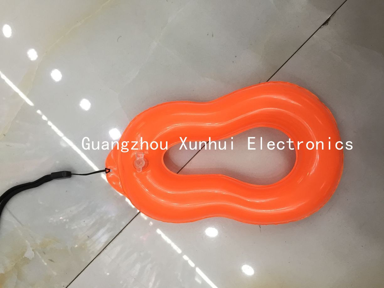 PVC Floating Air Inflation Waterproof Bag Ring for Mobile Phone