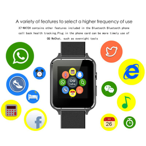 Bluetooth Smart Watch X7 Heart Rate Monitor Anti-Lost SIM Card Wristwatch Smartwatch
