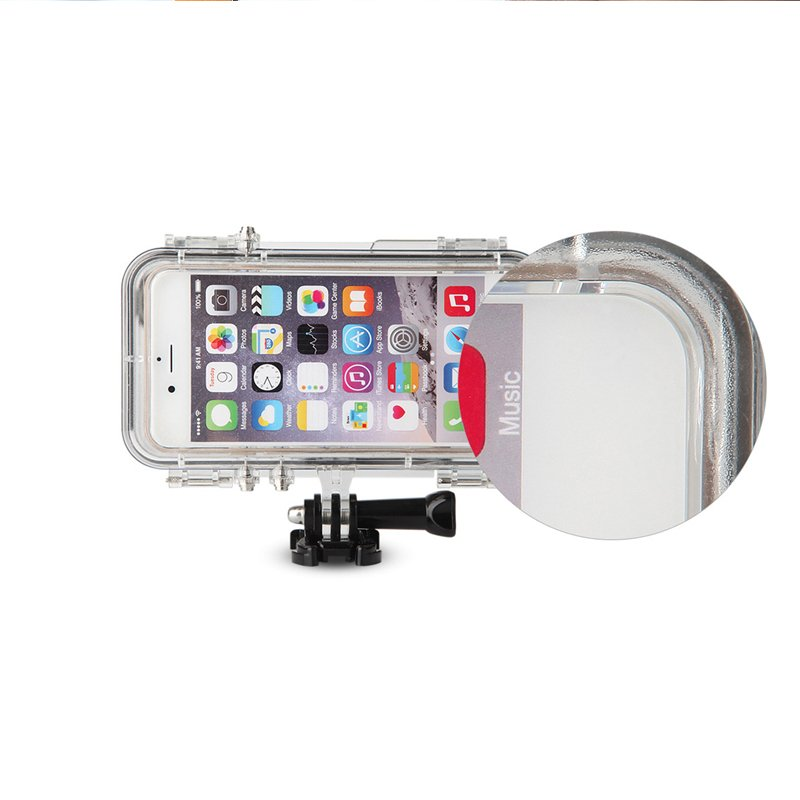 Extreme Sports Wide Angle 170 Degree Waterproof Cell/Mobile Phone Case for iPhone 6/6s
