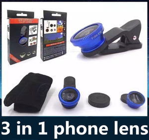Cell Phone Lens 3 in 1 Clip Camera Lens Fish Eye Lens