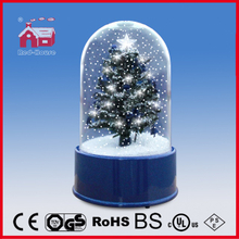 (18030L) Christmas Tree Snow Globe with Transparent Case