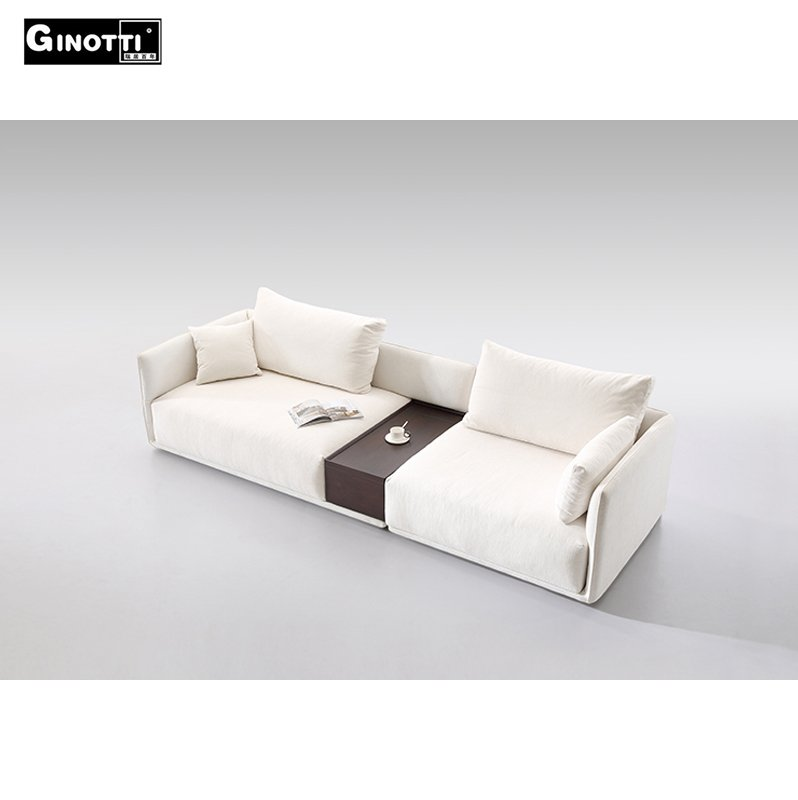 Fabric Sofa Set Pure White Sectional Sofa With Coffee Table Inside