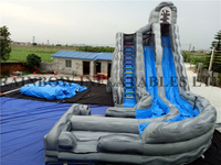 Outdoor Commercial Durable Inflatable Tsunami Water Slide for Adults