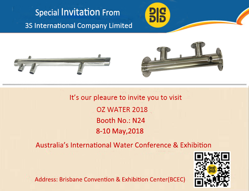 3S International will attend OZ WATER 2018