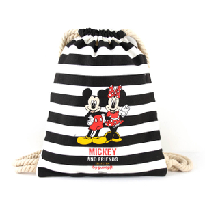 Canvas drawstring bags disney