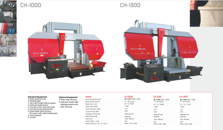 CH SERIES DOUBLE COLUMN SEMI AUTOMATIC BAND SAWS CH1000-CH1300