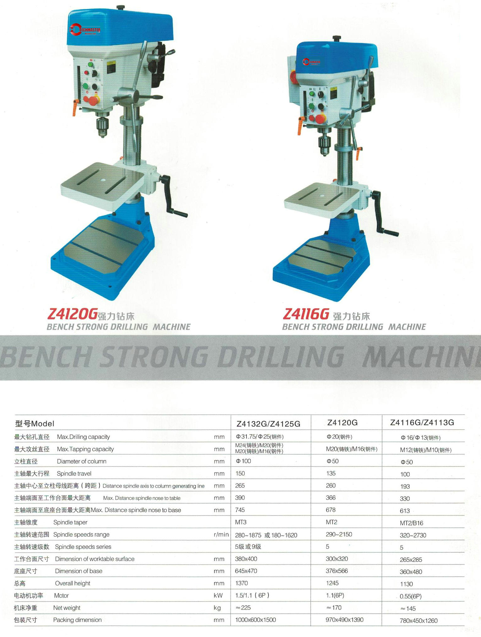 BENCH STRONG DRILLING MACHINE Z4116G