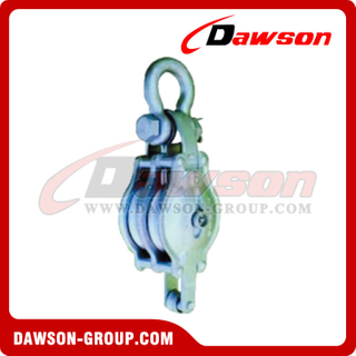 DS-B014 Bloco de carcaça de ferro maleável para Manila Rope Double Sheave With Shackle