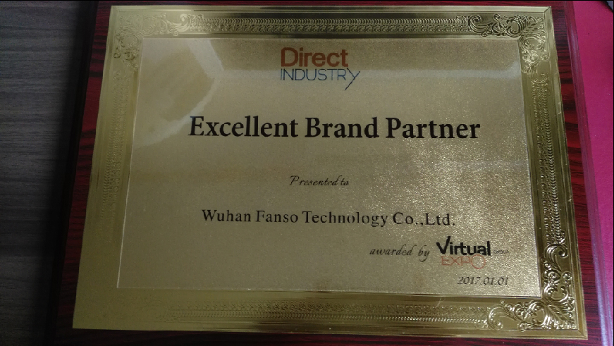 Fanso awarded Excellent Brand Partner by Virtual Expo and DirectIndustry