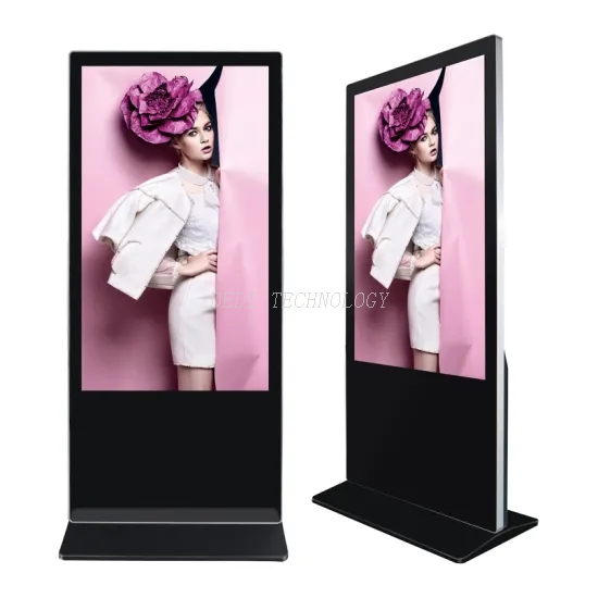 49inch mobile floor standing 1920x1080 resolution touch screen digital signage kiosk totem