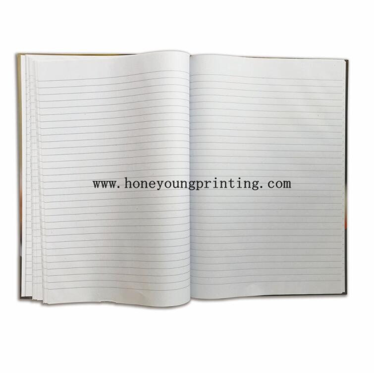 Hardcover A4 A5 school student notebook 8mm ruled line with red margin China supplier