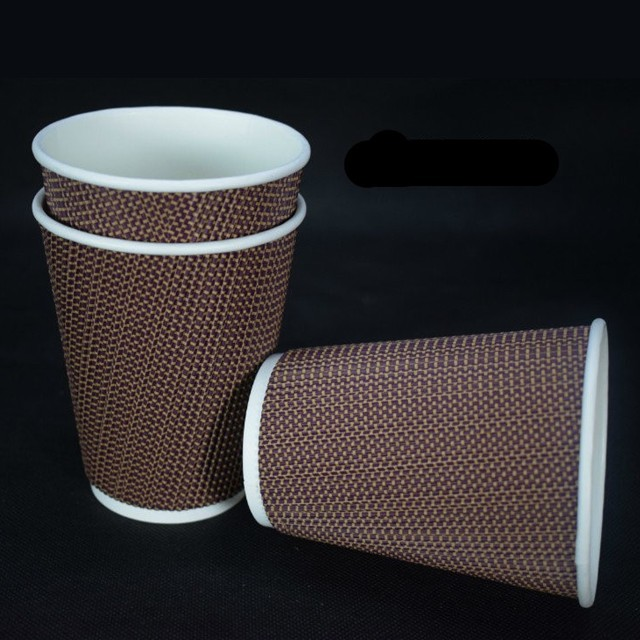 Disposable Ripple Wall Paper Cup for Coffee/Tea/Hot Water