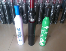 Beverage Bank Promotional Gift Wine Bottle 3 Folding Umbrella