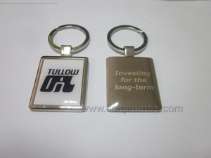Tullow Oil Logo Zinc Alloy Metal Keychain