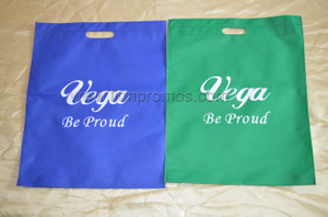 Vega Logo Two Sides Printed Non Woven Shopping Bag