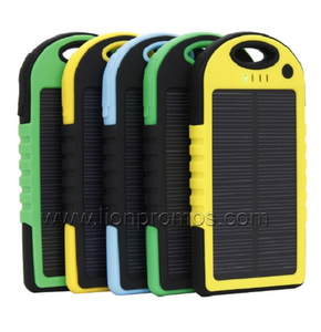Outdoor Working Trvel Carabiner Waterproof Solar Power Bank