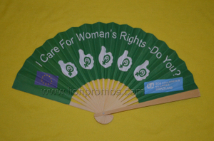 European Sponsored Charity Organizetion Gift Two Sides Chinese Bamboo Paper Fan