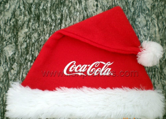 Custom Logo Embrodiery Christmas Promotional Santa Hat