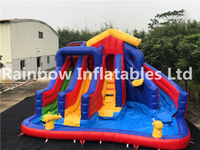 Best Quality Backyard Inflatable Water Slide with Pool for Kids
