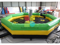 RB9124-10(7x7m)Inflatable large crazy Mechanical Bull Games for sale