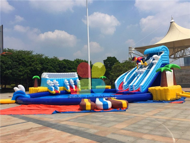 Rainbow Inflatable Water Park