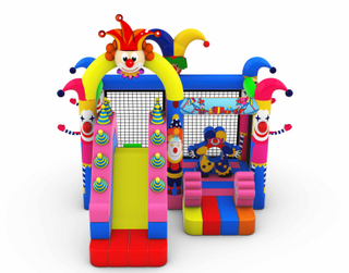 Inflatable Happy Clown Bouncer For Sale