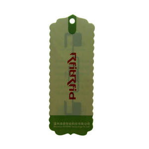 UHF OFFSET PRINTING INTEGRATED RFID GARMENT HANGING TAG FOR CLOTHING