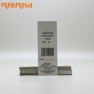 EPC ENCODING PAPER EPC GEN2 UHF RFID GARMENT HANGING TAG FOR CLOTHING