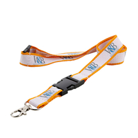 Custom badge holders lanyards with polyester material and print logo for meeting