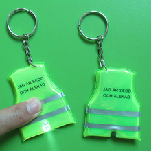 Custom pvc key chains with print logo and led light for promotional event