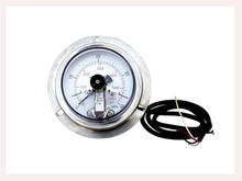 PG-014 Magnetic electric contact Pressure Gauges with back connection with flange