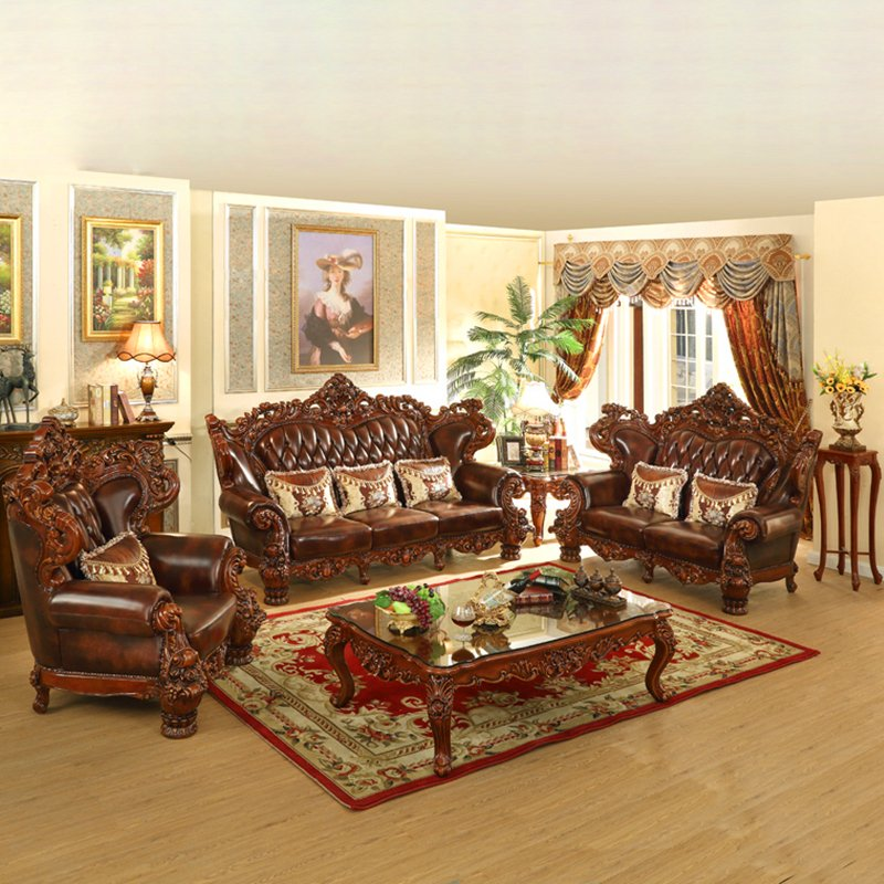 529 Living Room Sofa Set with Cabinets for Home Furniture