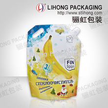 Car window wash liquid detergent standing pouch