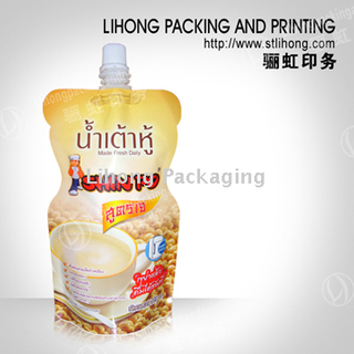 Standing Pouch With Spout for Instant Beverage