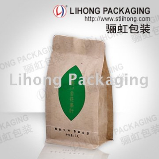 Food Grade Flexible Packaging Resealable Zip Seal Green Tea Bag
