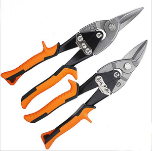 Iron Scissors Red and Black Double Color Handle Avation Snips Tin Snips