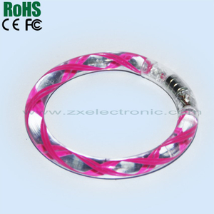 Hot sale led flashing bracelet/bangle led glow bracelet