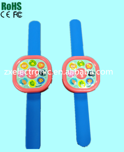 Cheap voice recorder music player kid wrist watch for advertising & decration