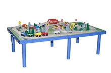 Wooden Railway Table Train Set