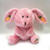 Custom Long Ear Valentine Stuffed Rabbit with Carrot Plush Toy