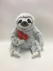 Cute Cartoon Grey 3 Toed Sloth Plush Toy with Heart