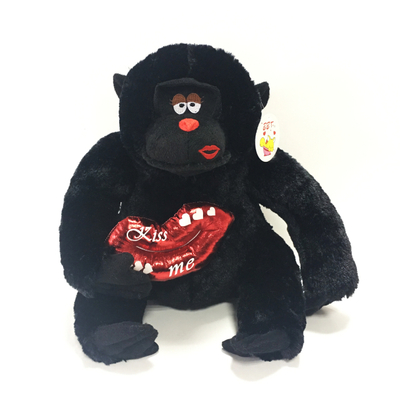 Simulation Black Orangutan Plush Toys Stuffed Black Orangutan Toys