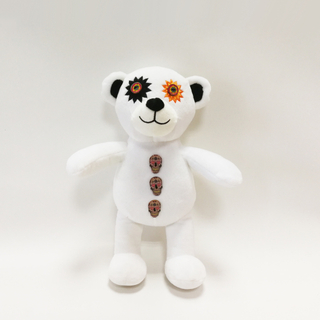 China Supplier Halloween White Terror Bears with Buttons