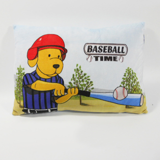 Custom Factory OEM Soft Plush Baseball Dog Pillow