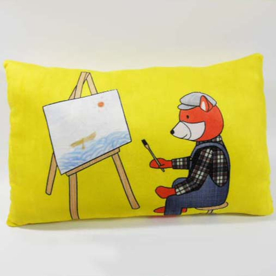 Custom Factory OEM Soft Plush Painter Fox Pillow
